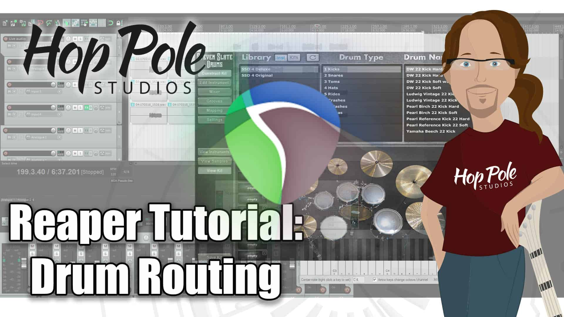 Reaper DAW 101 Part 3:- Drum Routing for VST – Steven Slate Drums and Superior Drummer 2